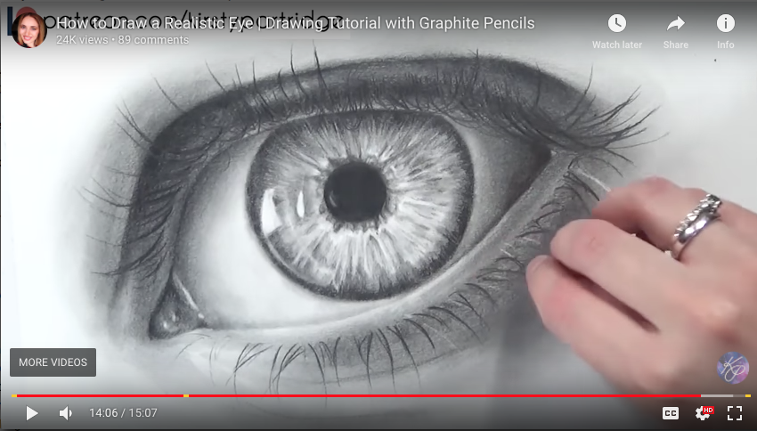 850x484 How To Draw A Realistic Eye Drawing Tutorial With Graphite
