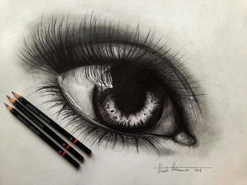 500x375 Realistic Eye Drawing In Color