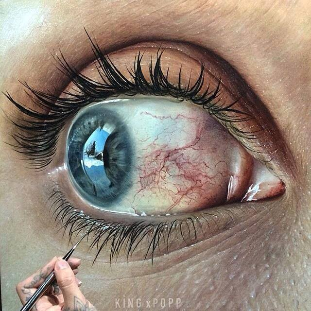 640x640 Realistic Eye Drawings