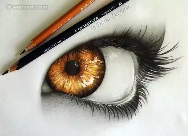 600x435 realistic eyes pencil drawing