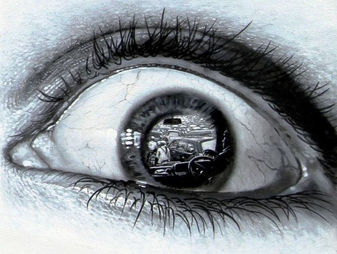 660x498 Realistic Eye Pencil Drawing 3d Eye Pencil Drawing