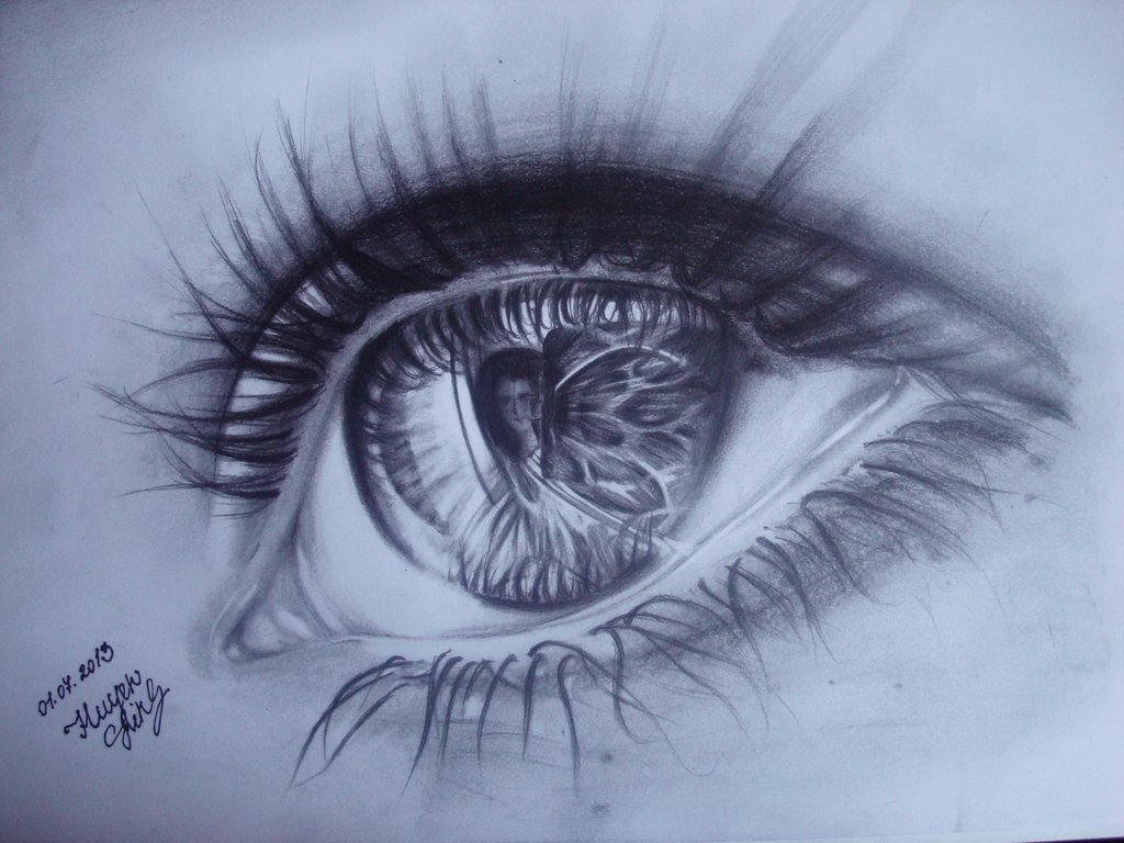 1024x768 Realistic Crying Eye Drawing Pencil Realistic Drawings Of Eyes