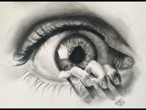 480x360 Realistic Eye Drawing In Charcoalgraphites