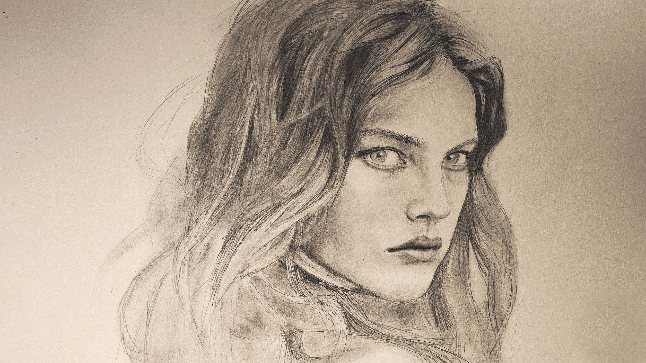 2510x1412 How To Draw A Realistic Face Time Lapse Natalia Vodianova