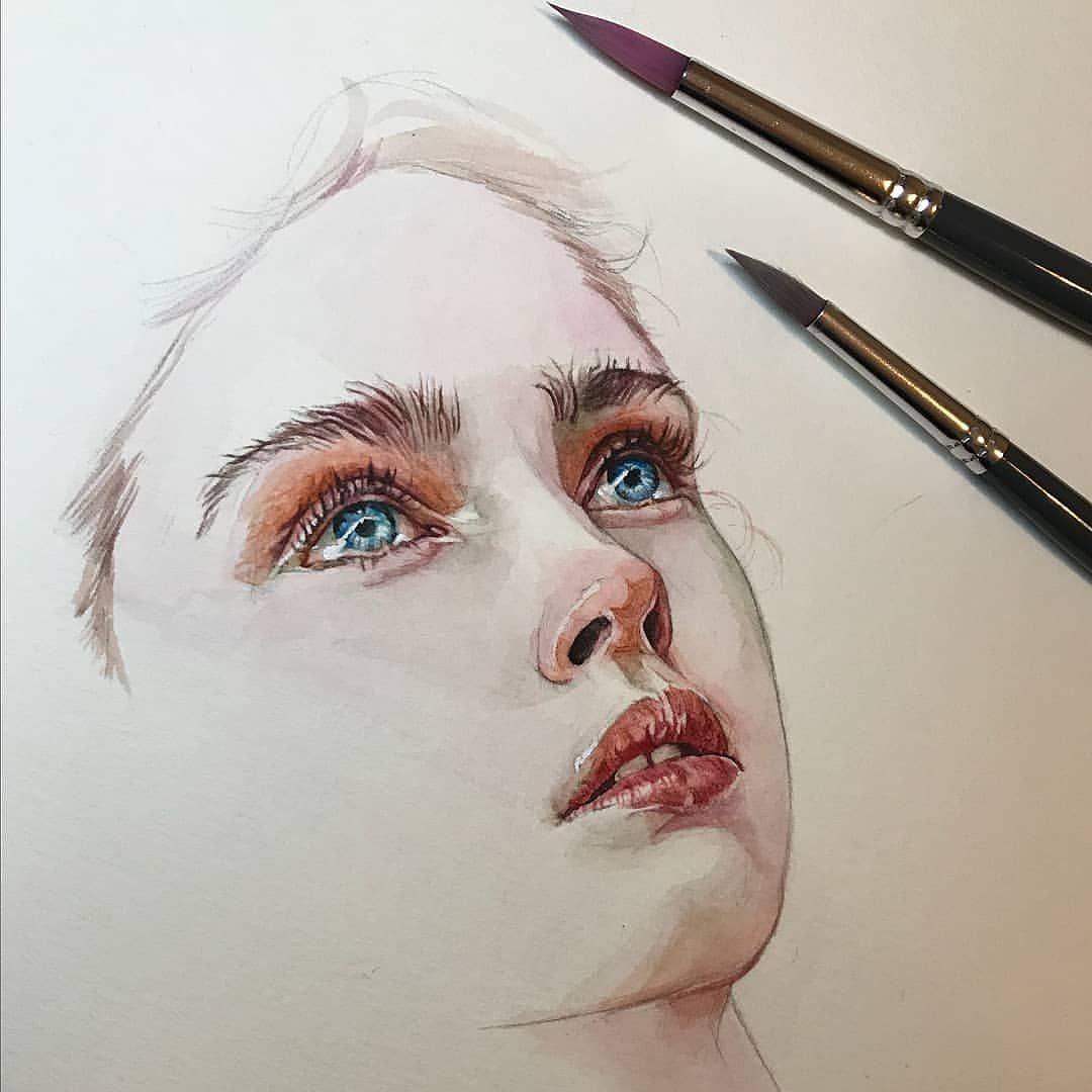 1080x1080 Realistic Face Drawing
