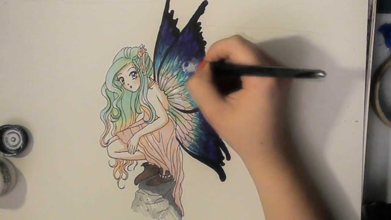 1280x720 Drawing A Fairy