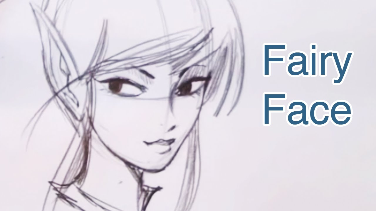 1280x720 How To Draw A Beautiful Fairy Face (Step By Step)