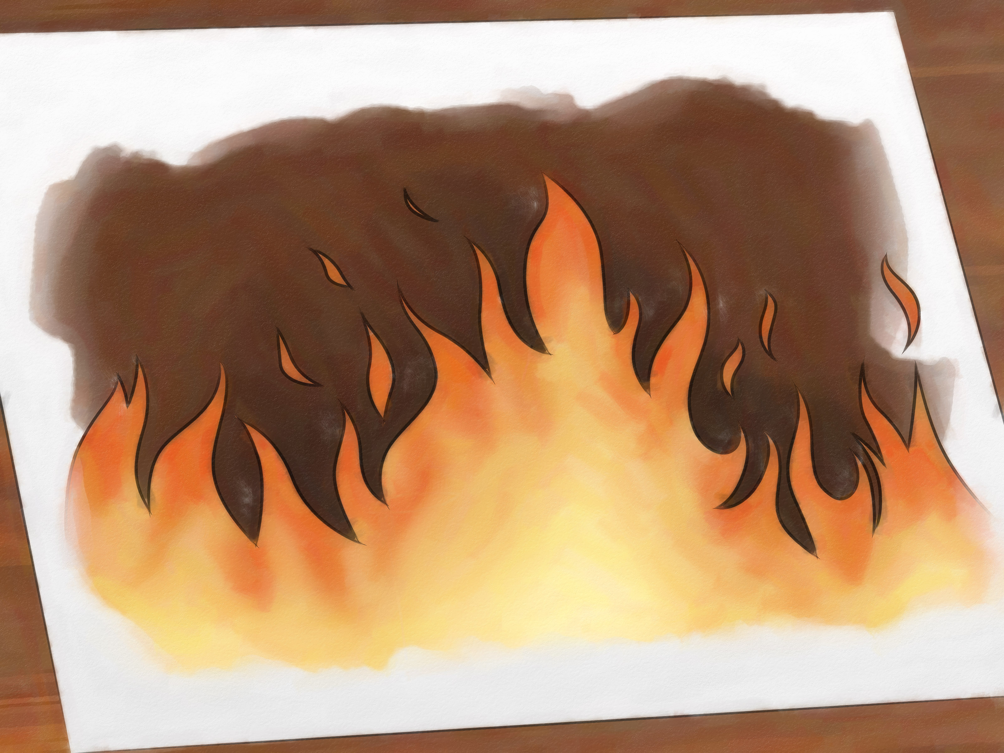 3200x2400 How To Draw Flames 14 Steps (With Pictures)