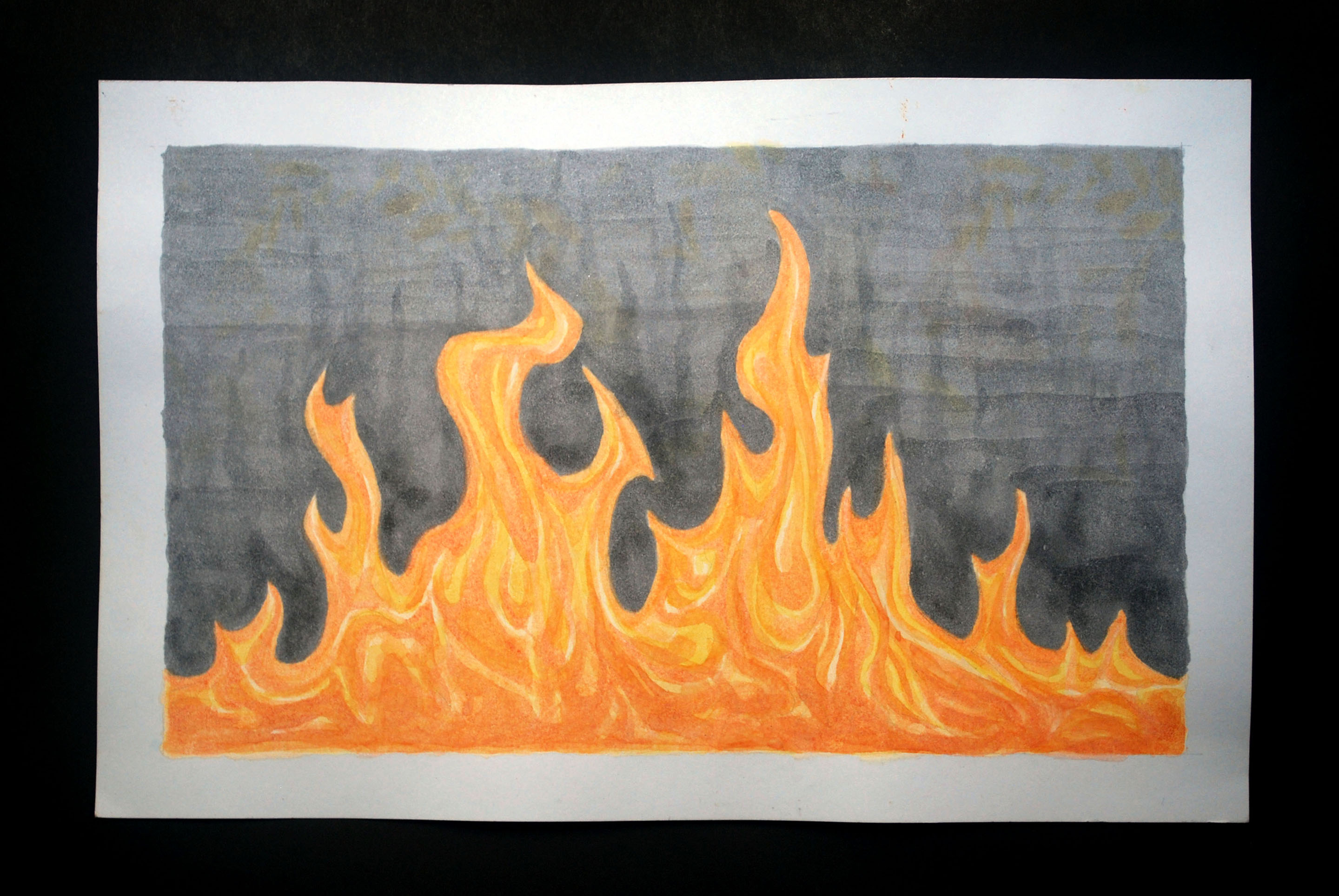 2880x1928 How To Paint Fire 8 Steps (With Pictures)