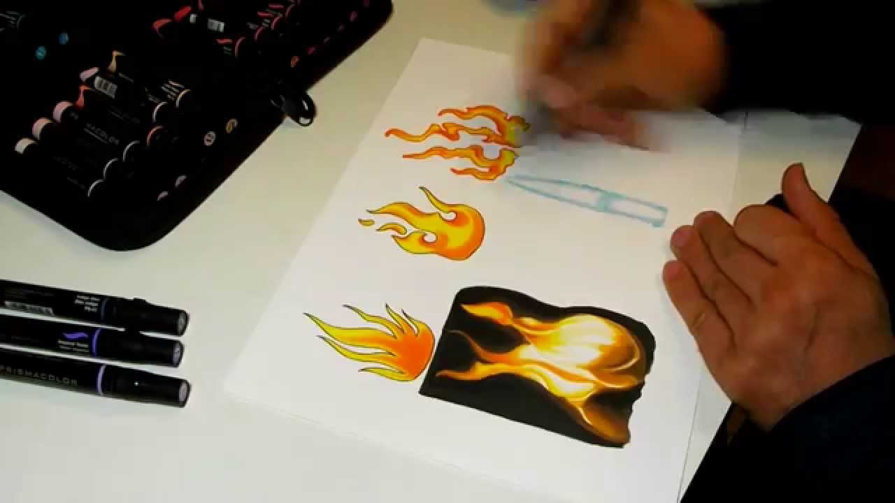 1280x720 How To Draw Realistic Fire.