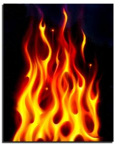 236x291 Realistic Fire Demo Panel, Cool Paint Airbrush Art
