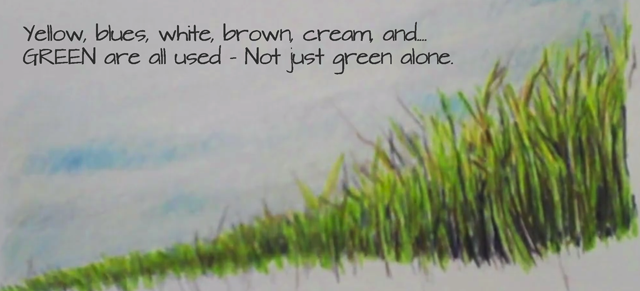 640x291 How To Draw Grass With Colored Pencils Video Tutorial