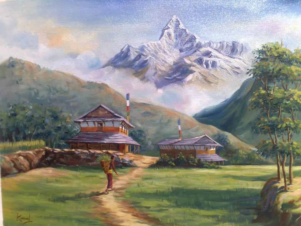 1024x768 Beautiful Landscape Drawing Realistic Landscape Colour Pencil
