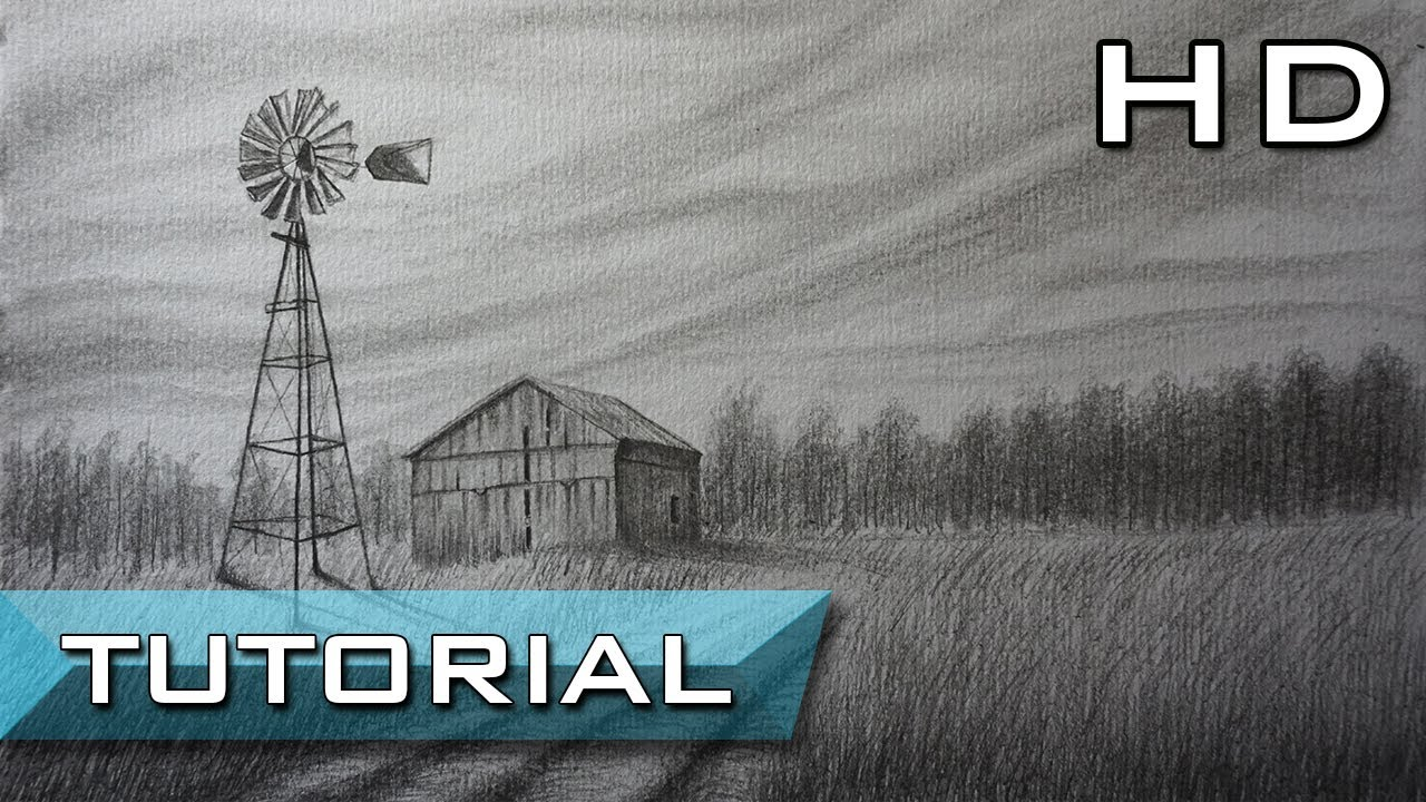 1280x720 How To Draw A Realistic Landscape With Pencil Step By Step