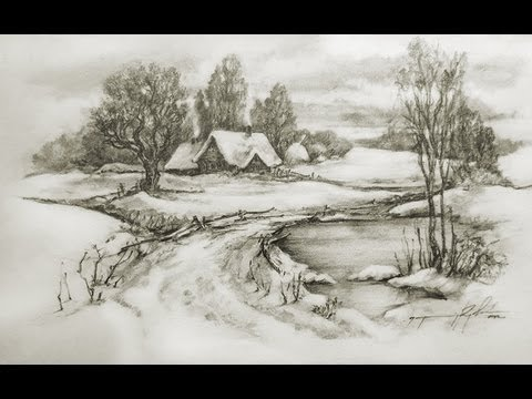 480x360 Speed Drawing Pencil, Landscape Cool Drawings
