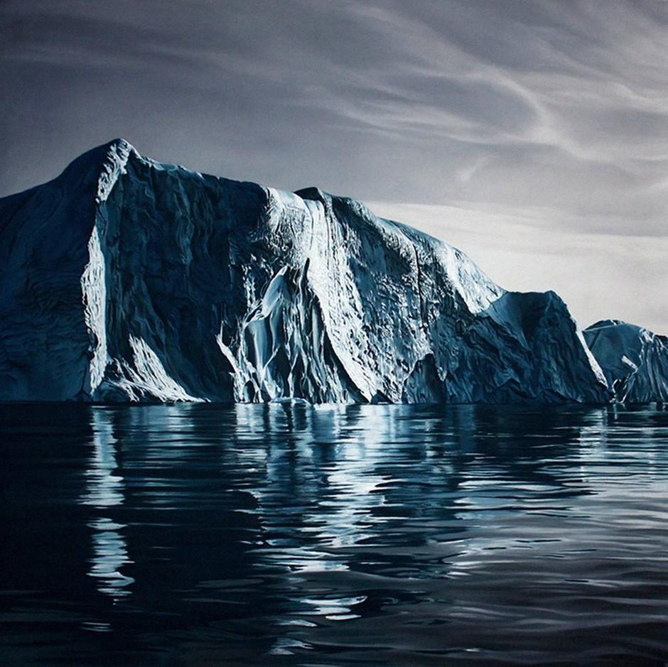 940x939 Zaria Forman's Photo Realistic Drawings Of Greenland Iceberg