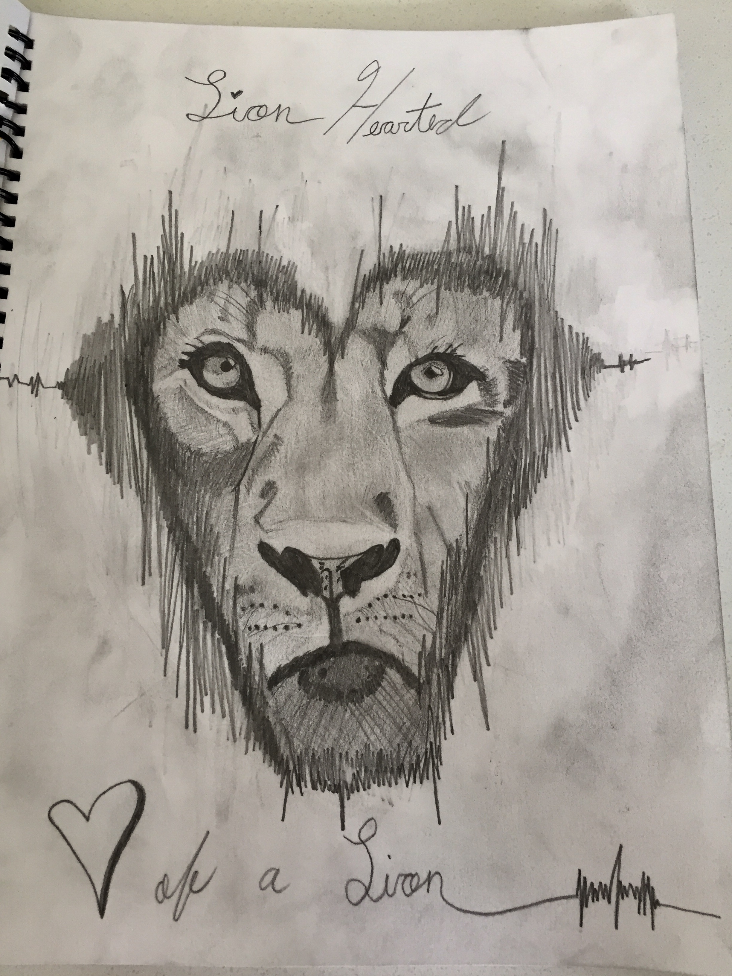 2448x3264 Heart Of A Lion Lion Tattoo Lion In The Shape Of A Heart Realistic