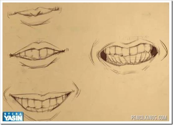 556x404 Drawn smile closed mouth smile