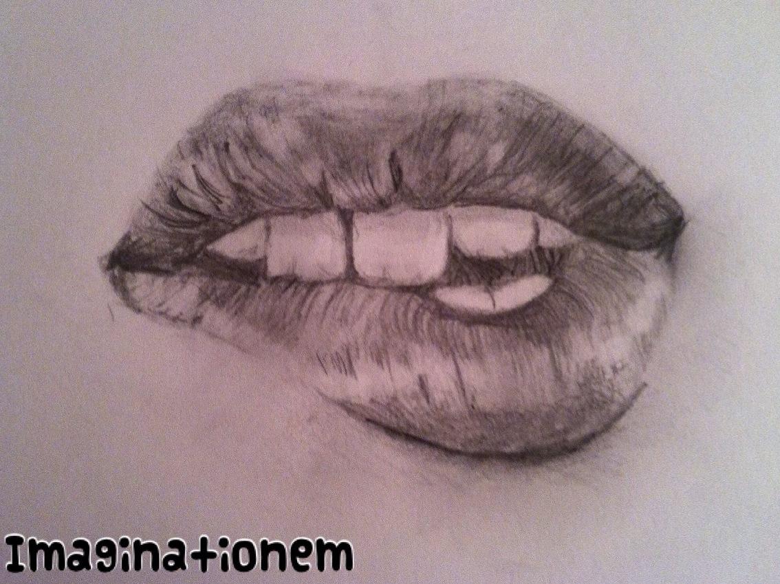 1134x850 How to Draw Realistically Lips – Imaginationem
