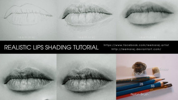 570x320 Realistic Drawing Step By Step Realistic Lips Drawing Tutorial By