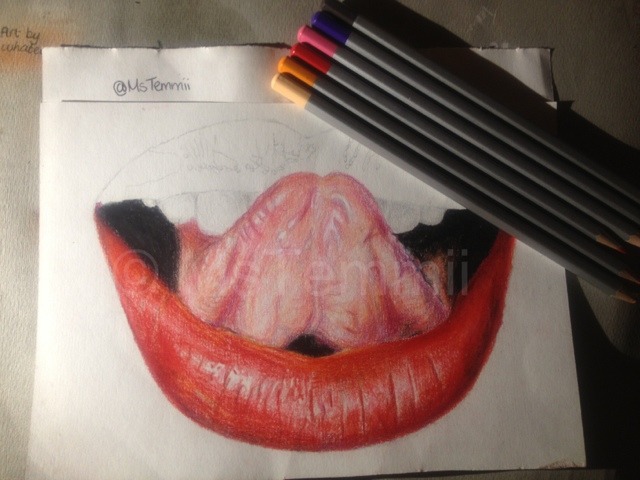640x480 Temi's Thoughts Realistic Lip Drawing