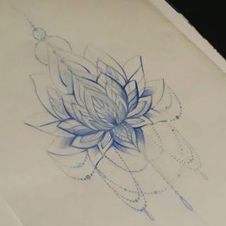 320x320 Realistic Lotus Flower Drawings