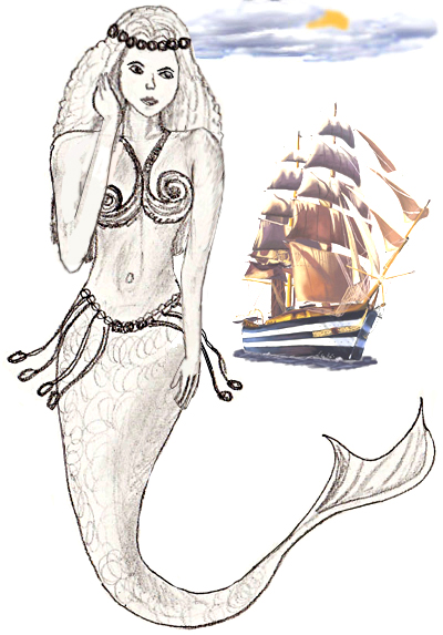 400x573 How To Draw A Mermaid