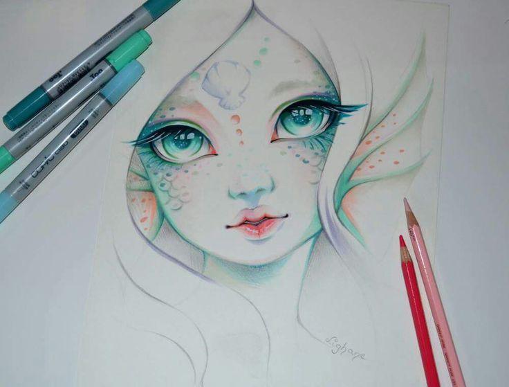 736x559 Image Result For Mermaid Drawing Merfolk Mermaid