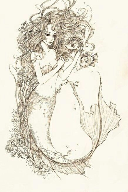 436x650 Pin By Abeer Qutb On Me Sirens, Mermaid And Tattoo