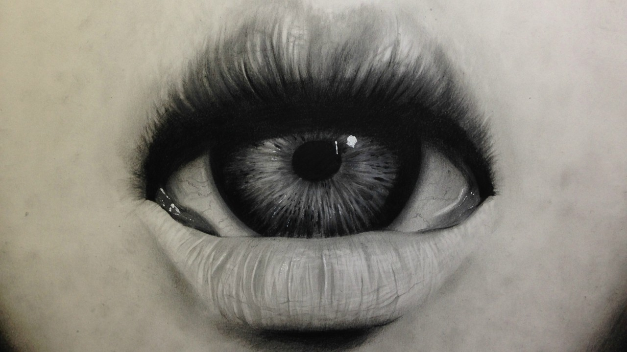 1280x720 Freaky Realistic Drawing Of A Sexy Mouth With Eye