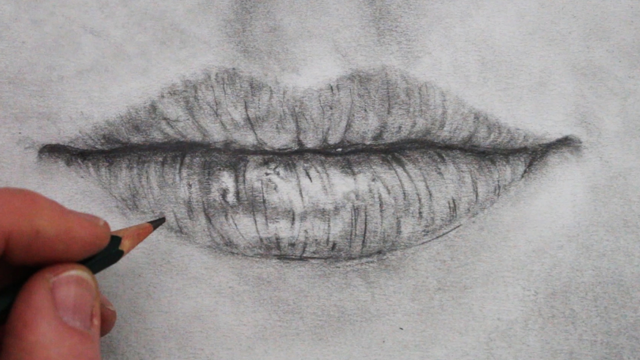 1280x720 How To Draw A Mouth And Lips Step By Step