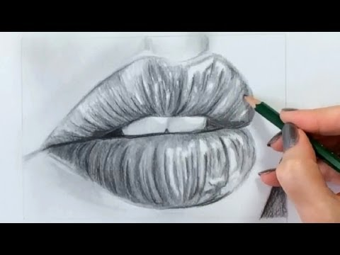 480x360 How To Draw A Realistic Mouth Amp Lips Art Food Kitty