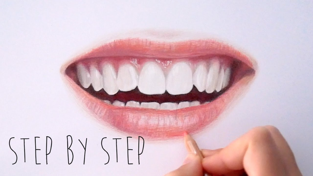 1280x720 Realistic Mouth Drawing With Pencil Color Tutorial How To Draw