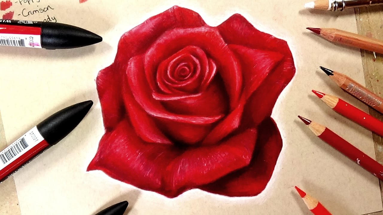 1280x720 How To Draw A Realistic Rose