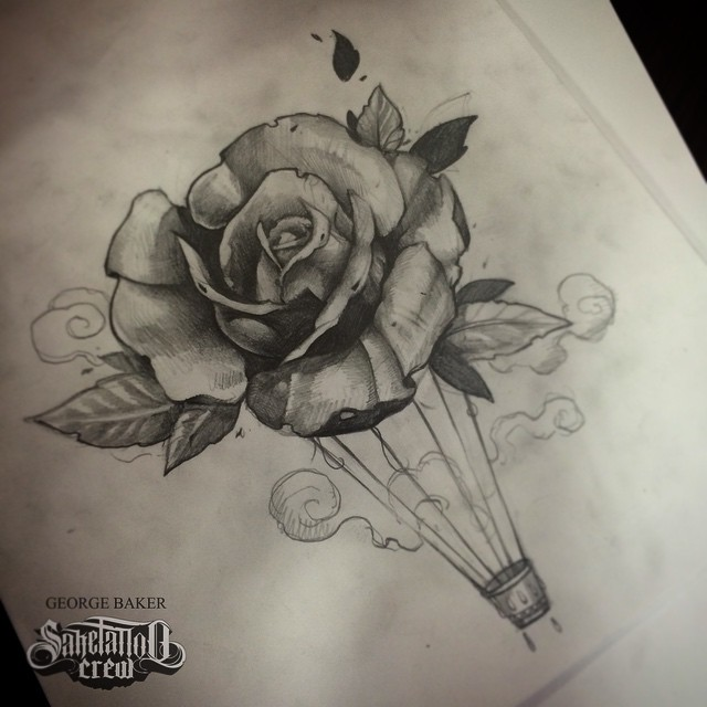 640x640 Realistic Rose Sketch From Baker!