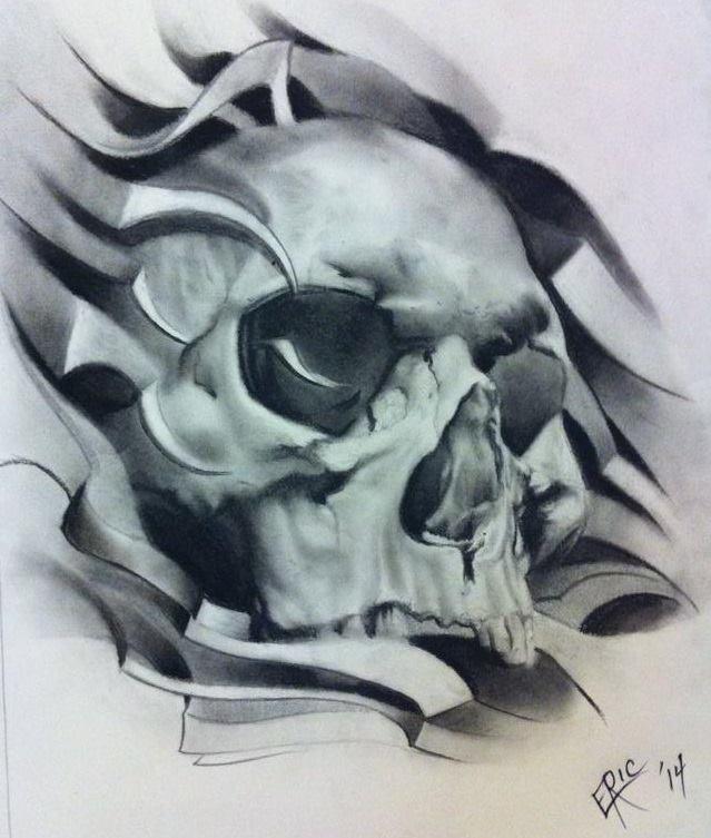 639x753 Realistic Skull Art Skull Artwork
