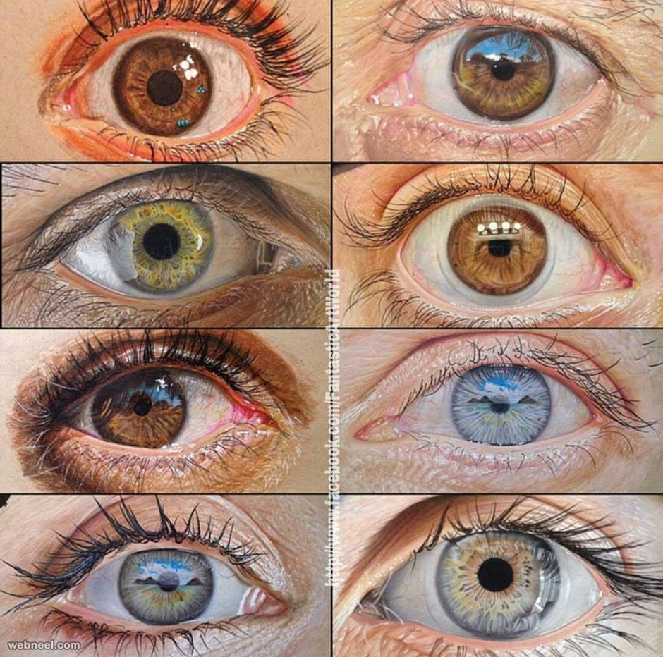 940x932 60 Beautiful And Realistic Pencil Drawings Of Eyes Realistic