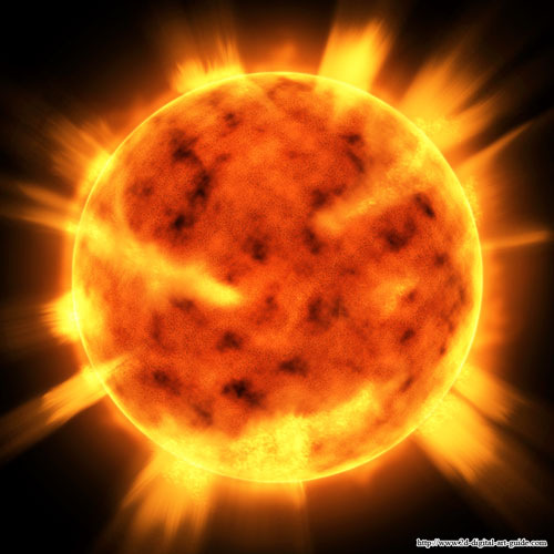 500x500 Creating A Realistic Sun Drawing Using And Mastering