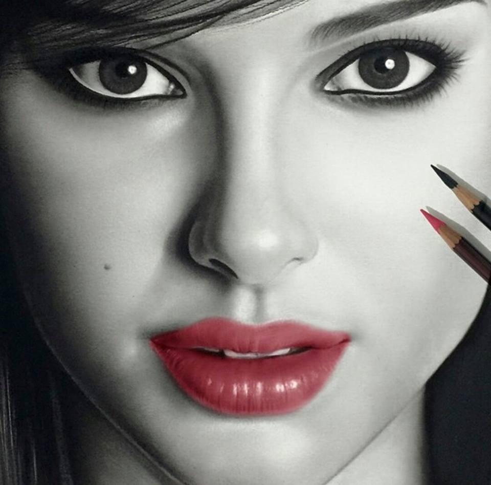 960x947 Realistic Woman Drawing By Aymanarts
