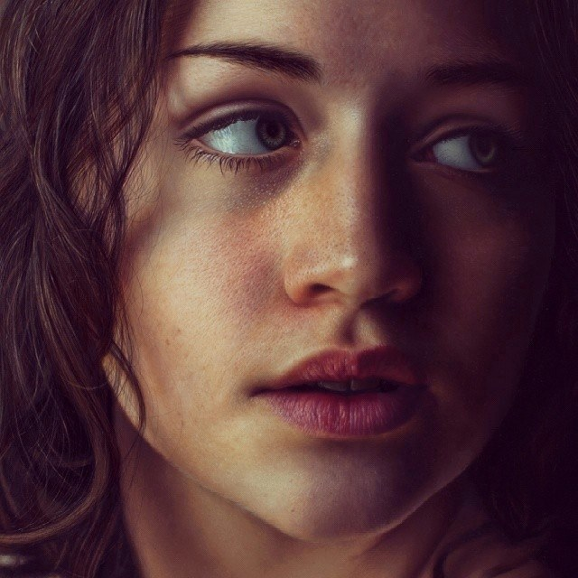 640x640 Woman Drawing By Marco Grassi