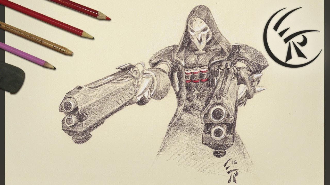 1280x720 Drawing Reaper Timelapse