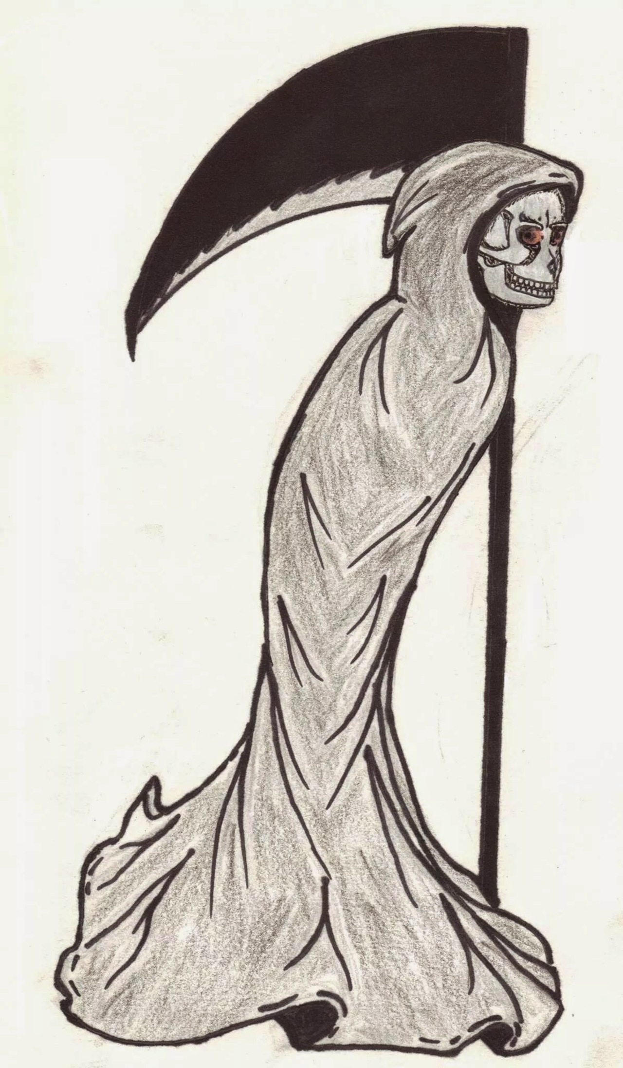 1280x2192 A Glance. [Originally Drawing] The Grim Reaper Is Always