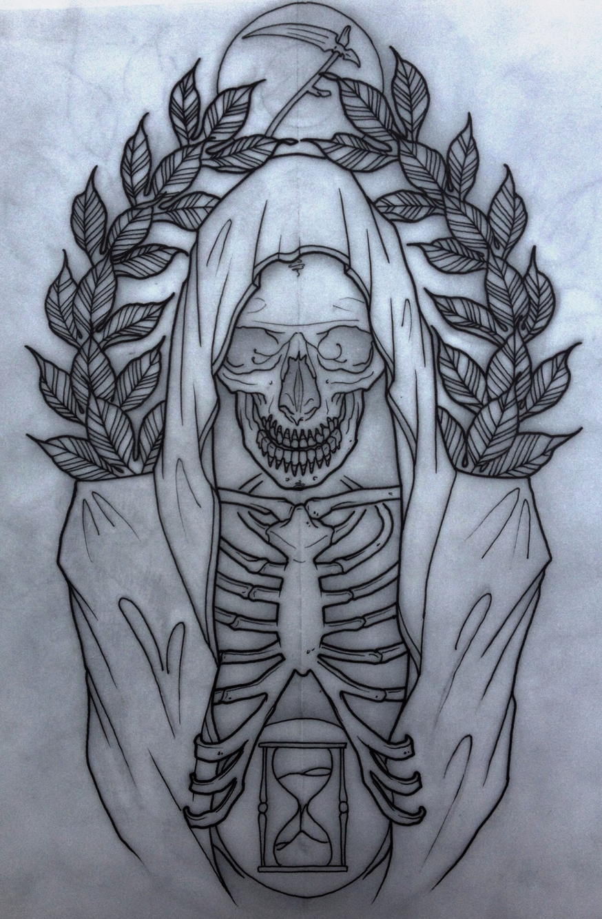 874x1334 Grim Reaper. Neo Traditional Grim Reaper, Tattoo