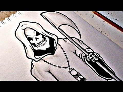 480x360 How To Draw The Grim Reaper