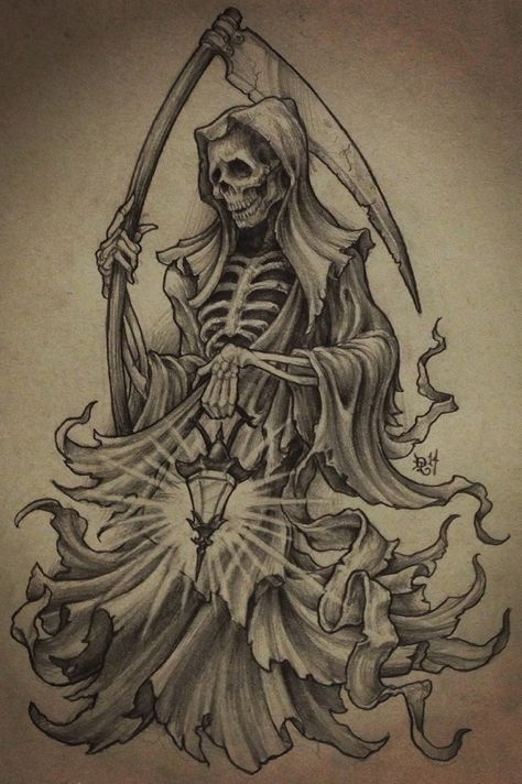 474x712 The Grimmiest Of Reapers Pencil And White Charcoal. 9x12