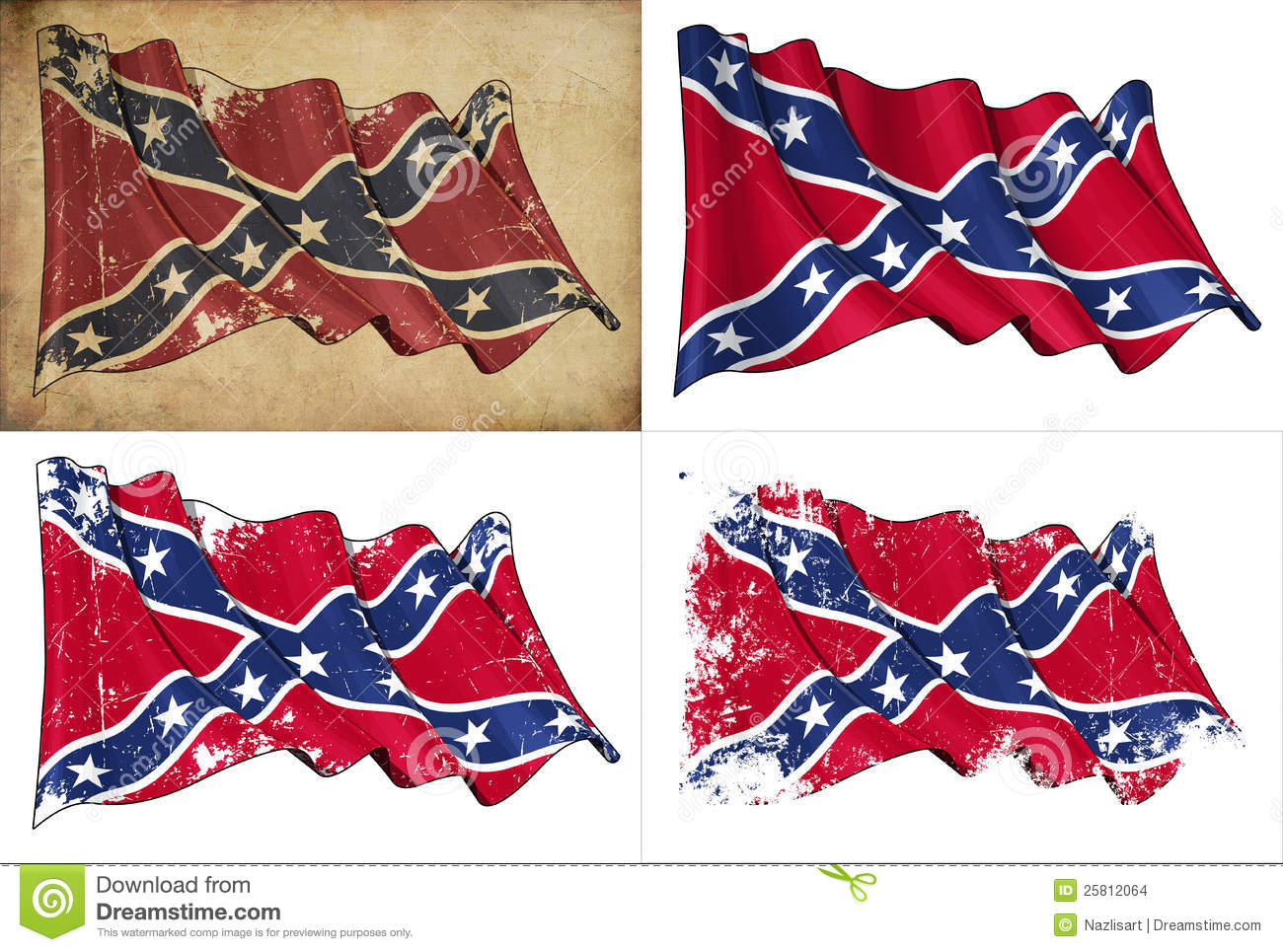 1300x965 Confederate Flag Drawing Confederate Rebel Historic Flag Stock