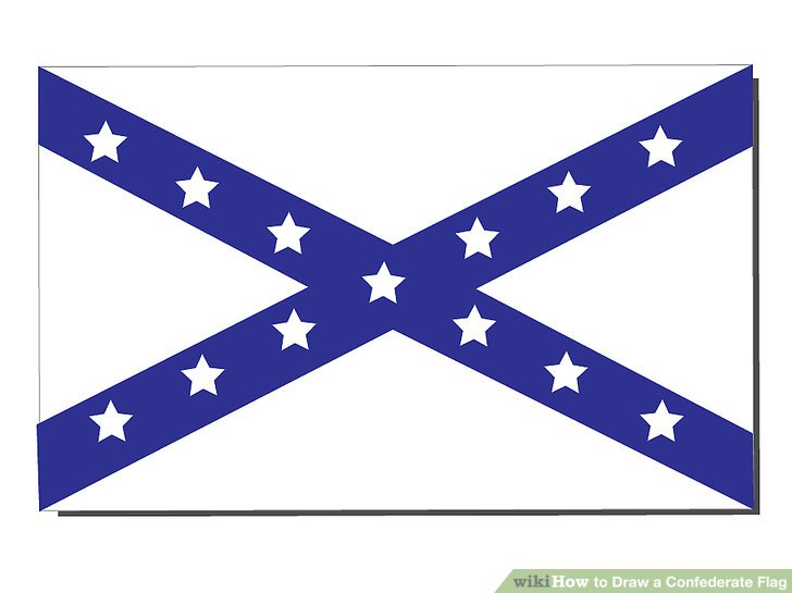 728x545 How To Draw A Confederate Flag 7 Steps (With Pictures)