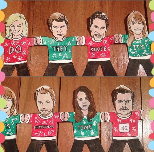 500x495 Christmas Drawing Illustration Art Chris Parks And Recreation