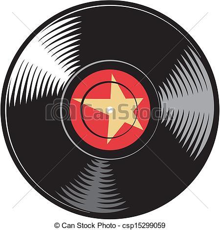 450x470 Vector Vinyl Disc (Record) Clipart Vector