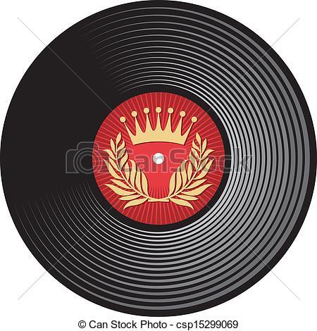 450x470 Vector Vinyl Disc (Vinyl Record) Clip Art Vector